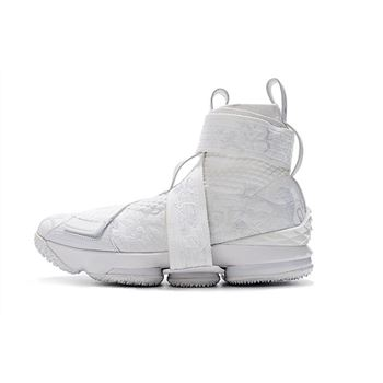 Kith x Nike LeBron 15 City of Angels Triple White Mens Basketball Shoes