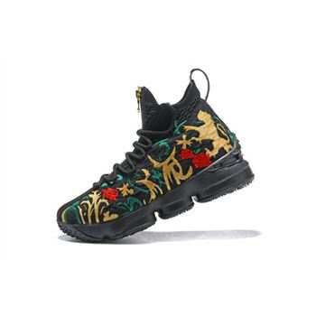 Mens KITH x Nike LeBron 15 Kings Crown Long Live The King Black Multi Color