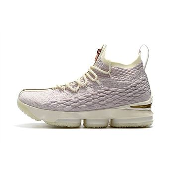 Mens KITH x Nike LeBron 15 Rose Gold Long Live the King Basketball Shoes