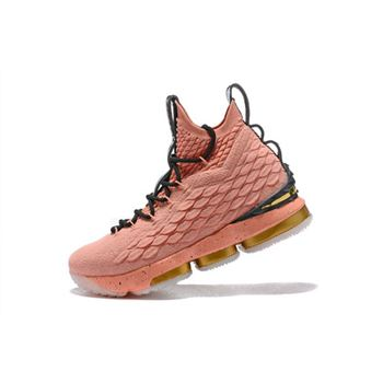 Mens Nike LeBron 15 All Star Rust Pink Metallic Gold Black
