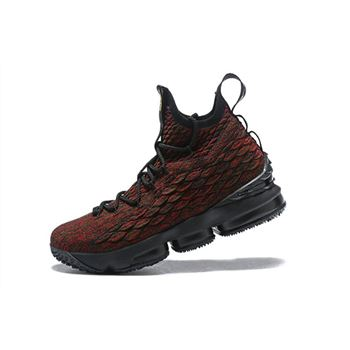 Mens Nike LeBron 15 BHM Black Multi Color Basketball Shoes
