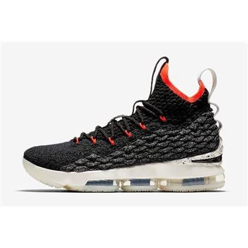 Men's Nike LeBron 15 Bright Crimson Black/Sail-Bright Crimson AQ2363-002