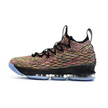Mens Nike LeBron 15 Four Horsemen Multi Color Black Basketball Shoes