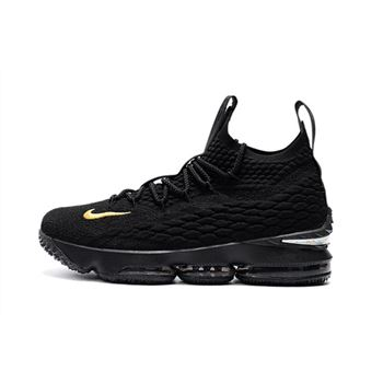 Mens Nike LeBron 15 PK80 all Black Basketball Shoes