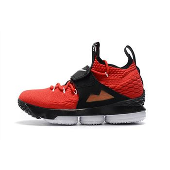 Mens Nike LeBron 15 Red Alternate Diamond Turf Basketball Shoes