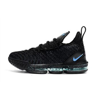 Men's Nike LeBron 16 BHM Black Blue For Sale