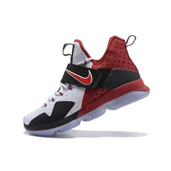 Nike LeBron 14 White Black Red Mens Basketball Shoes