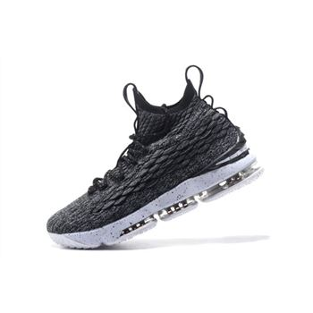Nike LeBron 15 Ashes Black White Mens Basketball Shoes