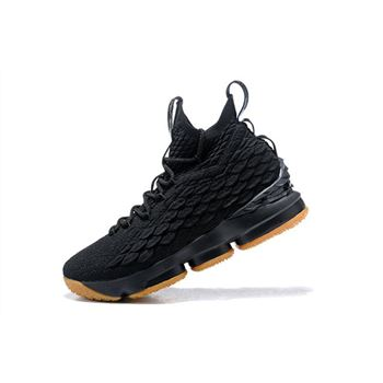 Nike LeBron 15 Black Gum 897648 300 Mens Basketball Shoes
