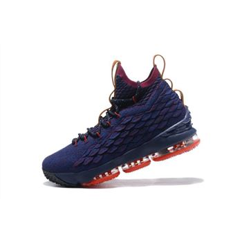Nike LeBron 15 Cavs Navy Wine Vachetta Tan Mens Basketball Shoes