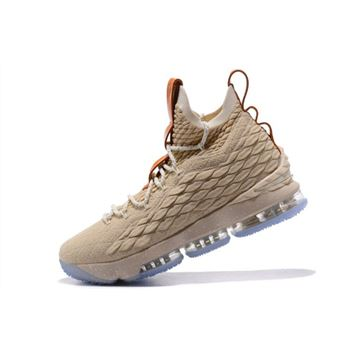 Nike LeBron 15 Ghost String Vachetta Tan Sail Basketball Shoes