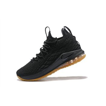 Nike LeBron 15 Low Black Gum Mens Basketball Shoes