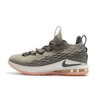 Nike LeBron 15 Low Dark Stucco Light Bone/Dark Stucco-Sail AO1755-003