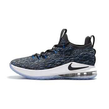 Nike LeBron 15 Low Signal Blue Thunder Grey Black