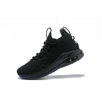 Nike LeBron 15 Low Triple Black Mens Basketball Shoes
