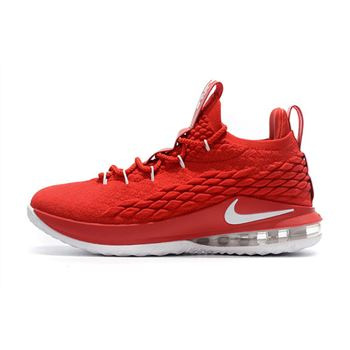 Nike LeBron 15 Low University Red White Mens Basketball Shoes