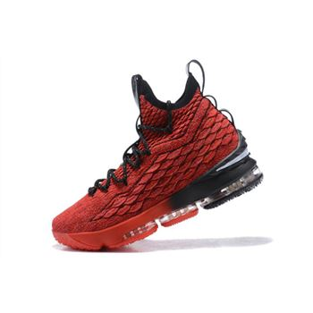 Nike LeBron 15 PE In Red Black Mens Basketball Shoes