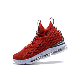 Nike LeBron 15 University Red White Mens Basketball Shoes