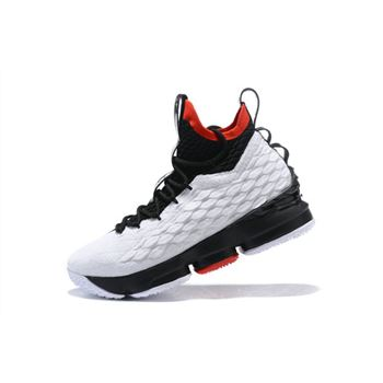 Nike LeBron 15 White Black Red Mens Basketball Shoes
