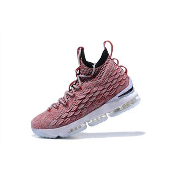Nike LeBron 15 Wine Red Flyknit Basketball Shoes