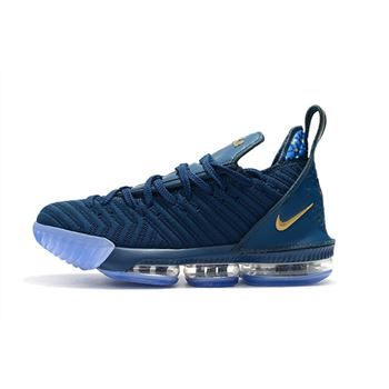 Nike LeBron 16 Agimat Philippines Coastal Blue Metallic Gold