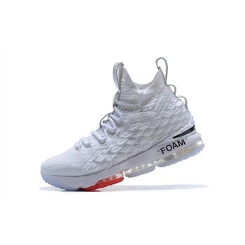 Off-White x Nike LeBron 15 White Men's Basketball Shoes
