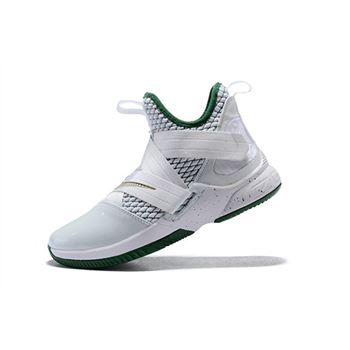 Mens Nike LeBron Soldier 12 SVSM White Multi Color Basketball Shoes