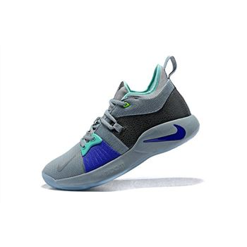 Mens Nike PG 2 Pure Platinum Basketball Shoes