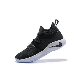 Mens Nike PG 2 Taurus Black White Solar Red Basketball Shoes