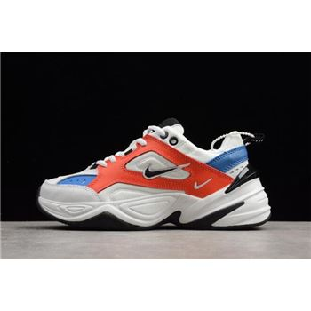 Mens and WMNS Nike M2K Tekno Summit White Black Team Orange