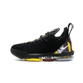Nike LeBron 16 Black/Yellow-White For Sale
