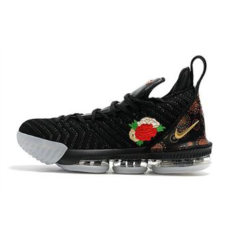 Nike LeBron 16 Chinese New Year Black University Red White Metallic Gold