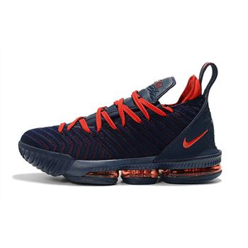 Nike LeBron 16 Navy Blue University Red Mens Basketball Shoes
