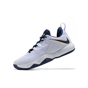 Nike LeBron Ambassador 10 White Midnight Navy Metallic Gold