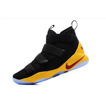 Nike LeBron Soldier 11 Black Yellow Cavs PE