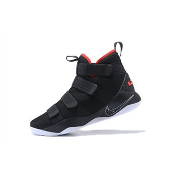 Nike LeBron Soldier 11 Bred Black White University Red