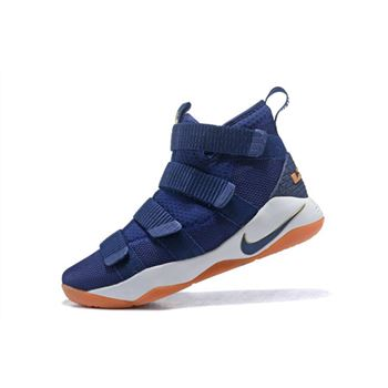 Nike LeBron Soldier 11 Cavs Midnight Navy Metallic Gold White