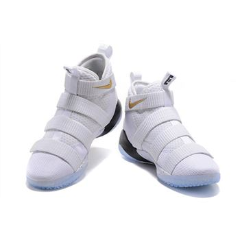 Nike LeBron Soldier 11 Court General White Metallic Gold Black