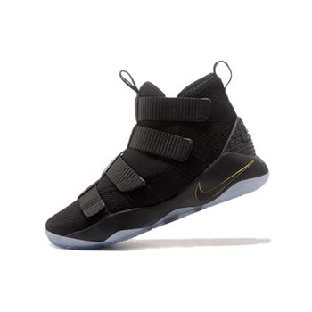 Nike LeBron Soldier 11 Finals Black Metallic Gold