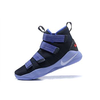 Nike LeBron Soldier 11 Steel Black Purple Grey