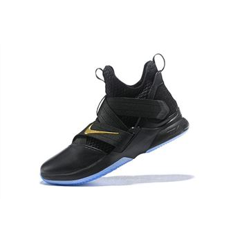 Nike LeBron Soldier 12 Black Metallic Gold