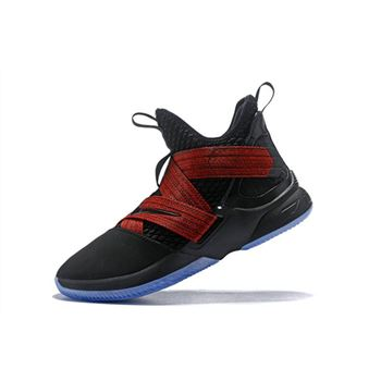 Nike LeBron Soldier 12 Red Straps Black Red