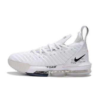 Off White x Nike LeBron 16 White Mens Basketball Shoes