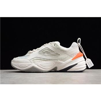 Women's Nike M2K Tekno Phantom/Olive Grey-Matte Silver-Hyper Crimson AO3108-001