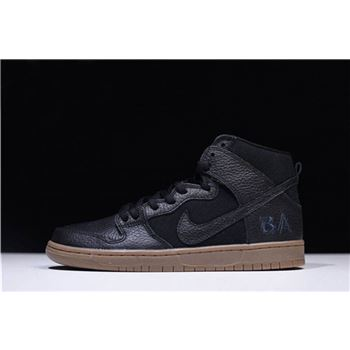 AntiHero x Nike SB Dunk High Pro Black Anthracite Gum Medium Brown