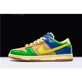 Mens and Womens Nike Dunk Low Premium SB Brooklyn Projects Halo Zitron