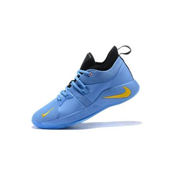 Nike PG 2 Blue Black Yellow Mens Basketball Shoes