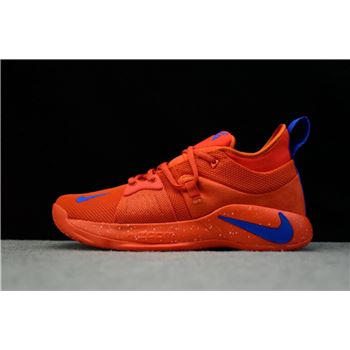 Nike PG 2 Team Orange Signal Blue Mens Basketball Shoes