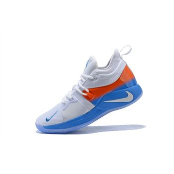 Nike PG 2 White Orange Blue Mens Basketball Shoes