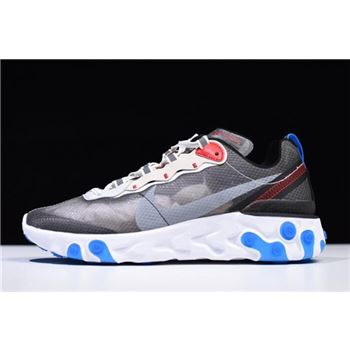 Nike React Element 87 Dark Grey/Pure Platinum-Photo Blue AQ1090-003